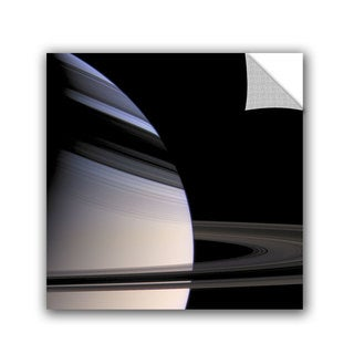 ArtAppealz Astronomy NASA's Saturn Embraced By The Shadows Of Its Stately Rings, Removable Wall Art Mural