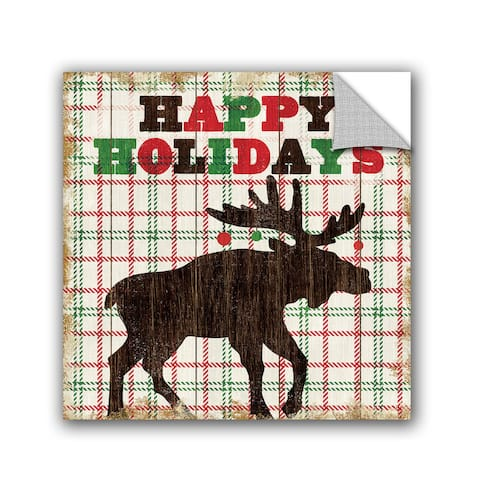 ArtAppealz Michael Mullan's Simple Living Holiday Moose, Removable Wall Art Mural