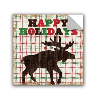 ArtAppealz Michael Mullan's Simple Living Holiday Moose, Removable Wall Art Mural (4 options available)
