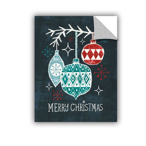 ArtAppealz Michael Mullan's Merry Christmas Ornaments, Removable Wall Art Mural