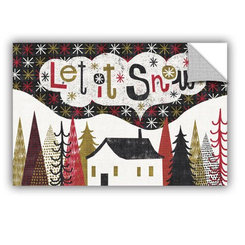 ArtAppealz Michael Mullan's Quirky Christmas Cabin, Removable Wall Art Mural