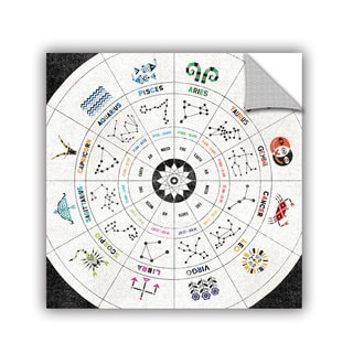 ArtAppealz Michael Mullan's Zodiac Chart, Removable Wall Art Mural