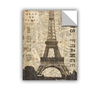 ArtAppealz Michael Mullan's Vintage Eiffel Tower, Removable Wall Art Mural