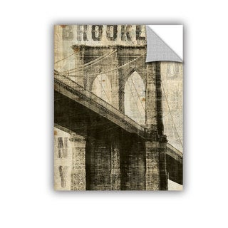 ArtAppealz Michael Mullan's Vintage Brooklyn Bridge, Removable Wall Art Mural