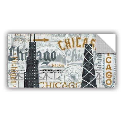 ArtAppealz Michael Mullan's Hey Chicago Vintage, Removable Wall Art Mural