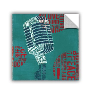 ArtAppealz Michael Mullan's Type Mic, Removable Wall Art Mural