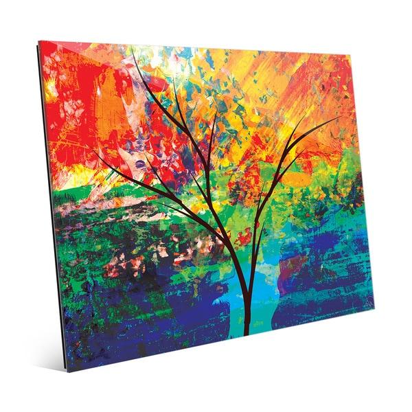 'Impasto Oak' Amber Glass Wall Art Print