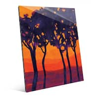 'Lonely Tree Line' Glass Wall Art
