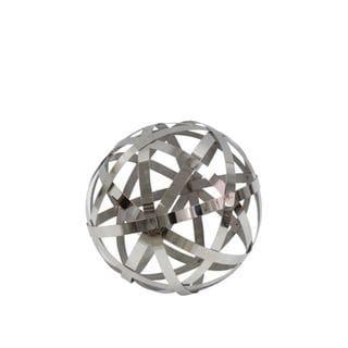 Benzara Silvertone Stainless Steel Orb
