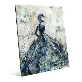 'Blue Gown' Glass Wall Art