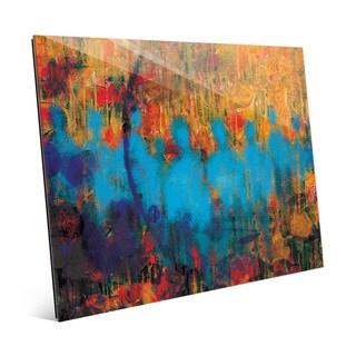 'Azule Crowd' Glass Wall Art Print