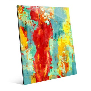'Abstract Figure Pop' Glass Wall Art Print