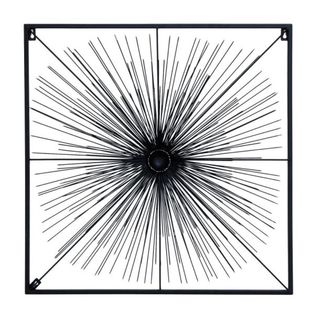Benzara Black Metal Modern Wall Decor