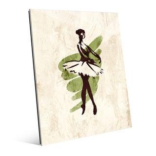 'Gestural Ballerina En Pointe' Glass Wall Art