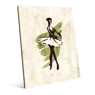 'Gestural Ballerina En Pointe' Glass Wall Art