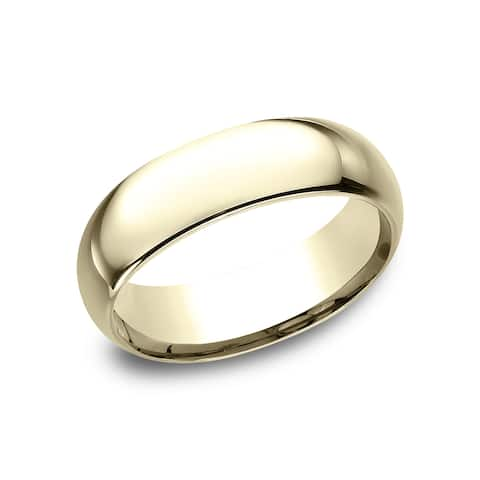 Women's 14k Yellow Gold Comfort-fit Traditional Wedding Band - 14k Yellow Gold - 14k Yellow Gold