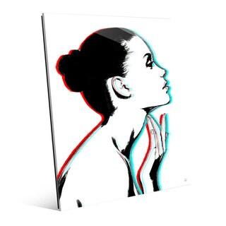 'Stereo Profile' Glass Wall Art Print