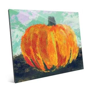 'Persimmon Tinted Pumpkin' Glass Wall Art Print