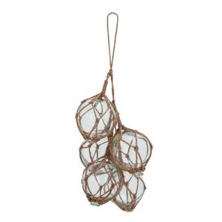 Benzara Clear Glass and Brown Jute 9-inch Wide x 20-inch High Float