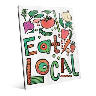 Eat Local Alpha Glass Wall Art Print (2 options available)