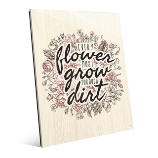 'Every Flower Must Grow' Glass Wall Art