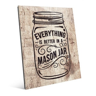 'Better in a Mason Jar' Glass Wall Art