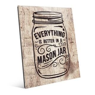 'Better in a Mason Jar' Glass Wall Art