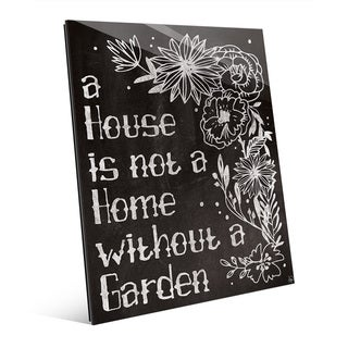 Home With a Garden Chalkboard Glass Wall Art (2 options available)