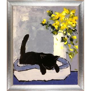 Atelier De Jiel 'Black cat is Sleeping' Fine Art Print on Canvas