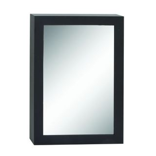 Benzara Black Wood Vertical Wall Mirror