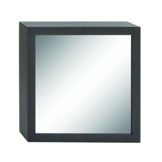 Benzara Black Wood-framed 27-inch Wall Mirror
