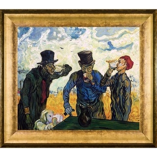 Vincent Van Gogh 'The Drinkers (After Daumier), 1890' Hand Painted Framed Oil Reproduction on Canvas