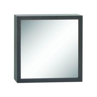 Benzara Black Wood 33-inch Wide x 33-inch High Wall Mirror