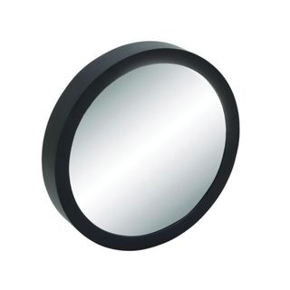 Benzara Black Wood 28-inch Diameter Wall Mirror
