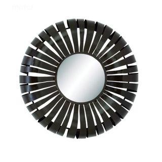 Benzara Metal 32-inch Round Wall Mirror