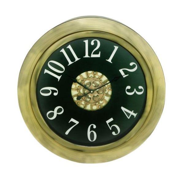 Benzara Goldtone Metal Wall Clock