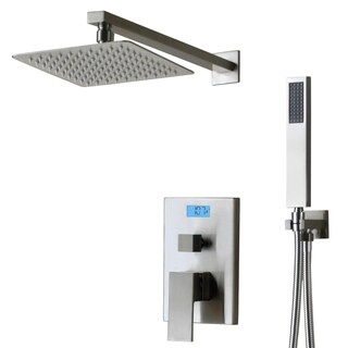 Digital Display and Thermal Backlight Shower Faucet with Sprayer