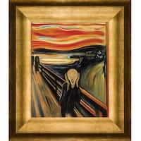 Edvard Munch 'The Scream' Hand Painted Framed Oil Reproduction on Canvas