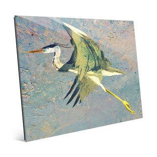 Blue Heron Fresco Glass Wall Art Print