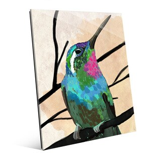 Humming Bird Wall Art Print on Glass