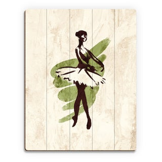 'Gestural Ballerina En Pointe' Wood Wall Art