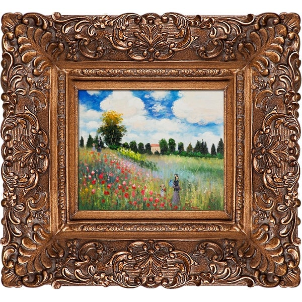 Claude Monet 'Poppy Field in Argenteuil' Hand Painted Oil Reproduction