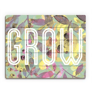 'Cadmium Growth' Wood Wall Art Print