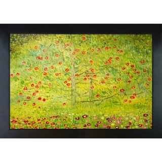 Gustav Klimt 'The Apple Tree' Hand Painted Framed Oil Reproduction on Canvas