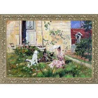 Giovanni Boldini 'Spring, 1873' Hand Painted Framed Oil Reproduction on Canvas