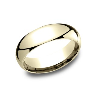 Ladies' 6mm 14K Yellow Gold Comfort-fit Traditional Wedding Band - 14k Yellow Gold