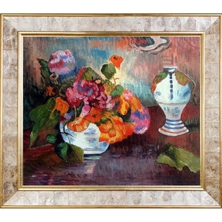 Paul Gauguin 'The Vase of Nasturtiums' Hand Painted Oil Reproduction
