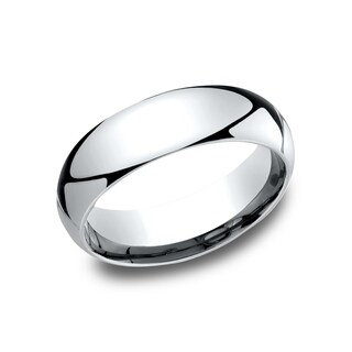 Men's 14k White Gold Comfort-fit Traditional Wedding Band (More options available)