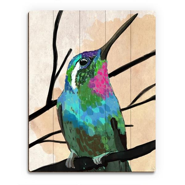 Humming Bird Wood Wall Art Print