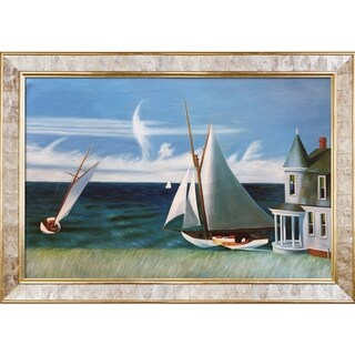 Edward Hopper 'The Lee Shore, 1941' Hand Painted Framed Oil Reproduction on Canvas